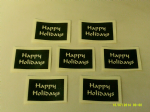 "10 - 100 x Happy Holidays words stencils for Christmas window decoration - snow spraying!  4 "" x 4"""